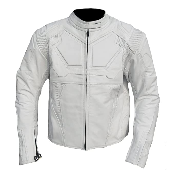 Classyak Fashion Oblivion Leather Jacket White, Xs-5xl