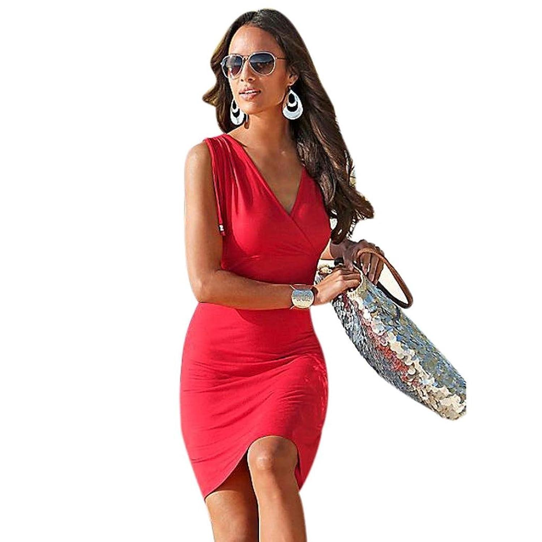 Frauen Kleid,Xinan Frauen-Sommer-Verband Bodycon Abend-Partei-Kurzschluss -Minikleid
