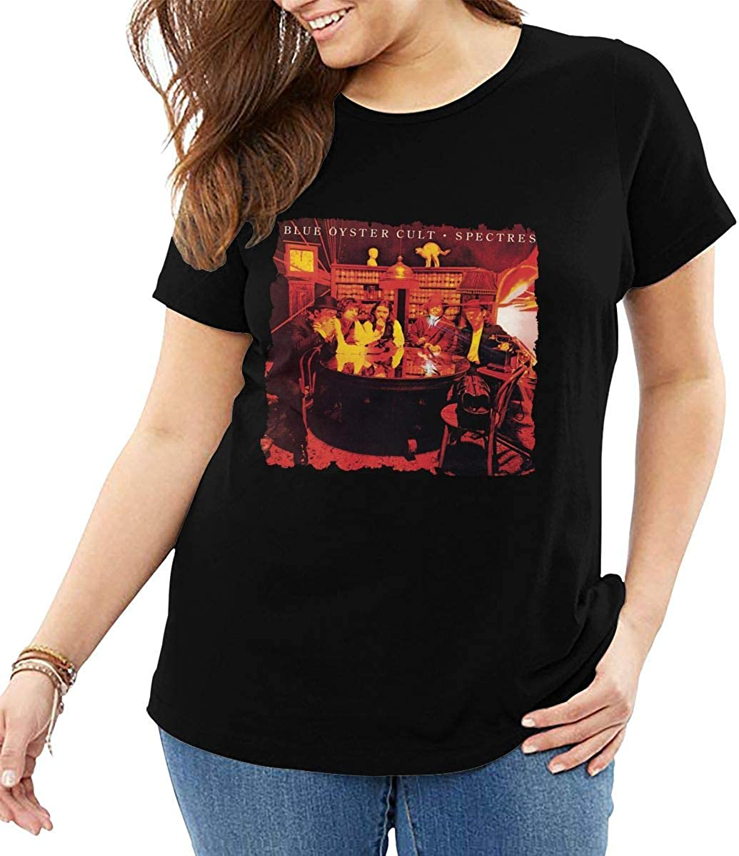 Blue Oyster Cult Spectres Womans Large Size Short Sleeve T Shirt High Waist T Shirts
