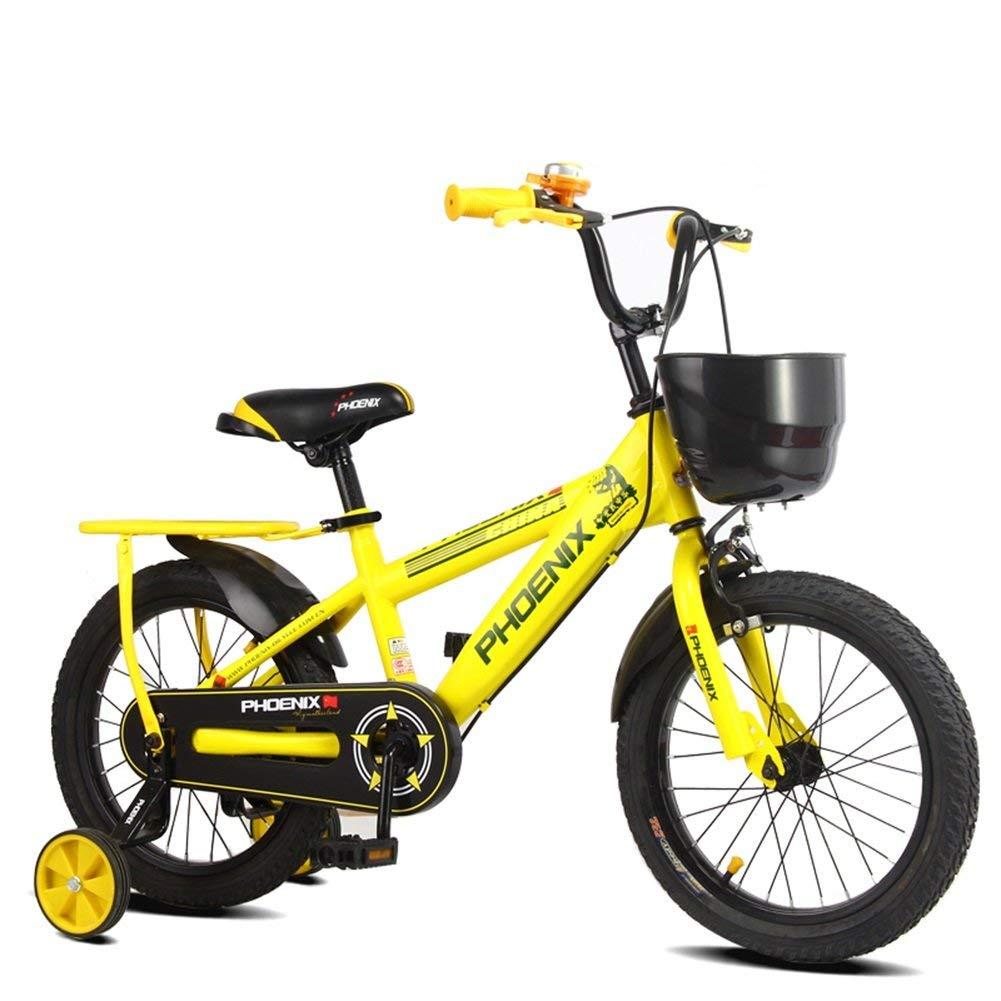 ファッション子供用自転車 はい子供の自転車子供自転車3-13歳後部座席と安定した安全な乗馬の男の子女の子 Length-120cm  B07R7GQBSC