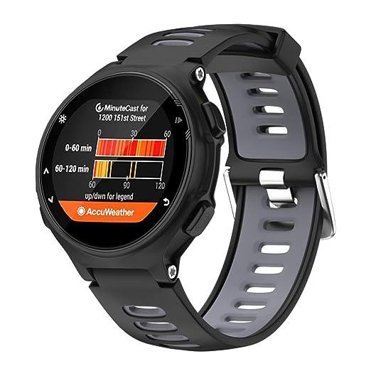 Correa Garmin Forerunner 735XT de silicona, Magiyard Reloj de pulsera de repuesto (1,