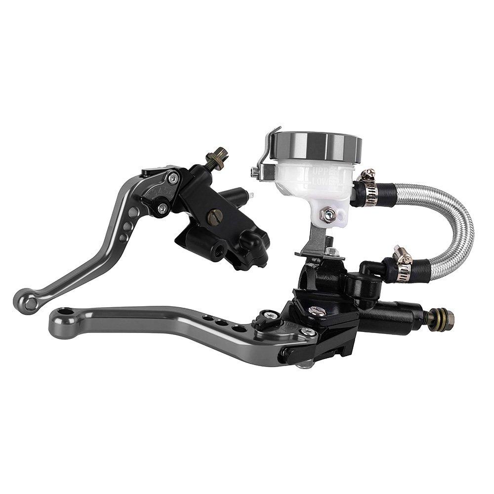 vert Nouveau 125CC /à 400CC Moto Leviers Hydrauliques 22mm Embrayage De Frein Ma/ître Cylindre Reservoir Set pour Ducati pour Kawasaki pour Yamaha