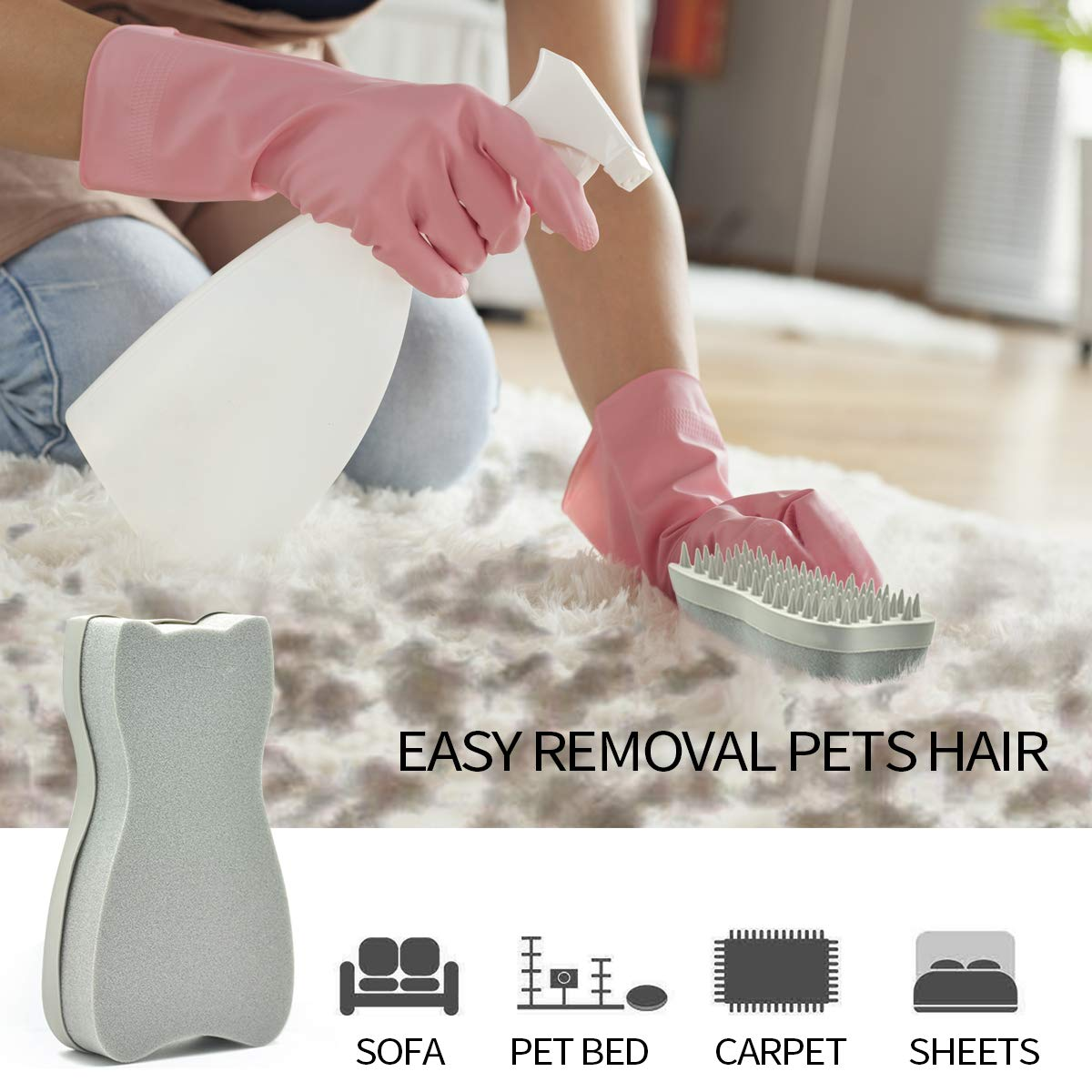 YOOHUG Pet Brush Effectively Reduces Shedding Slicker Grooming Brushes Massage for Dogs and Cats Easy to Clean Shedding Grooming Brush Loose Hair with Minimal Effort and Comfort