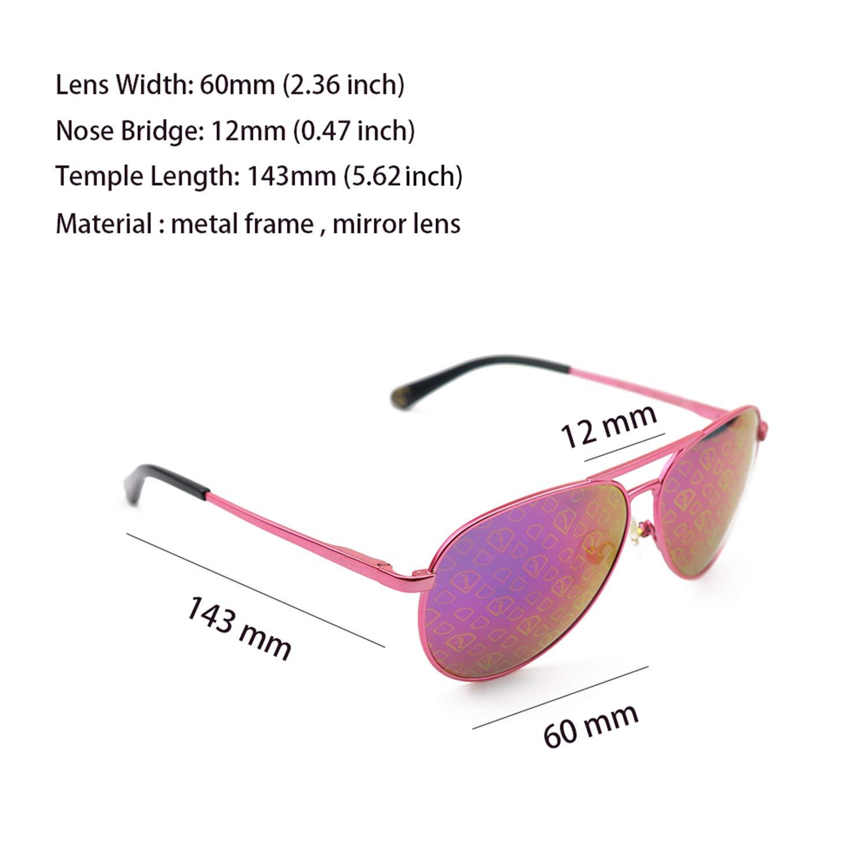 Eyeplayer Oversized Aviator Anti-Glare Mirror Lens UV400 Protection 60MM Sunglasses for Women Men with Case
