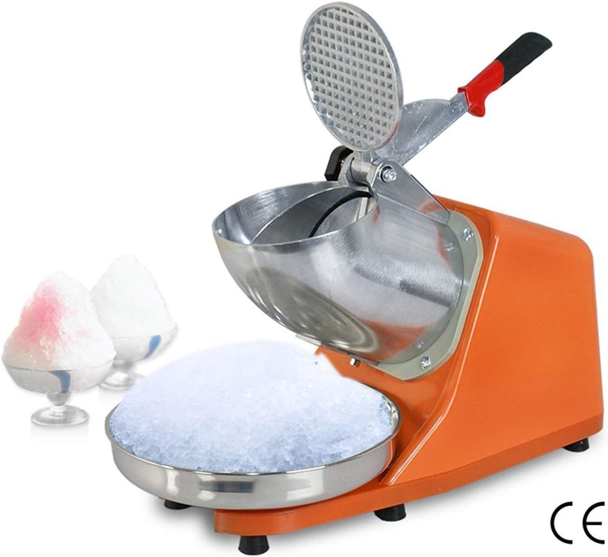DGYAXIN 300W Picadora de Hielo eléctrico trituradora máquina Afeitar Hielo afeitadora Batidos máquina máquina Rasa Nieve Cono 145 lbs (Plata), Naranja: Amazon.es