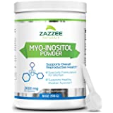 Zazzee Myo-Inositol Powder, 255 Servings, 18 Ounces (510 g), 2000 mg per Serving, Includes Free Scoop for Exact Dosage, 100%