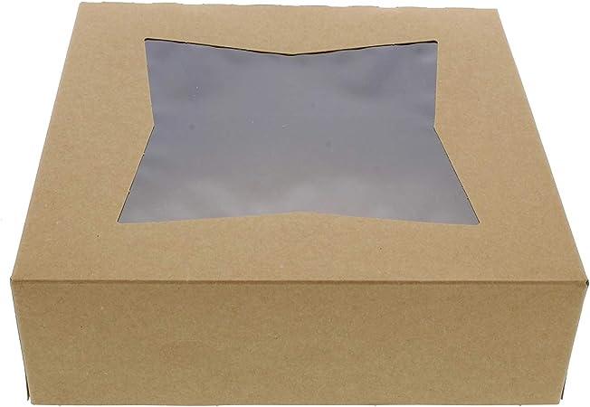 Special.T Cajas para Tartas con Ventana – 8 x 8 Pulgadas Cajas de ...