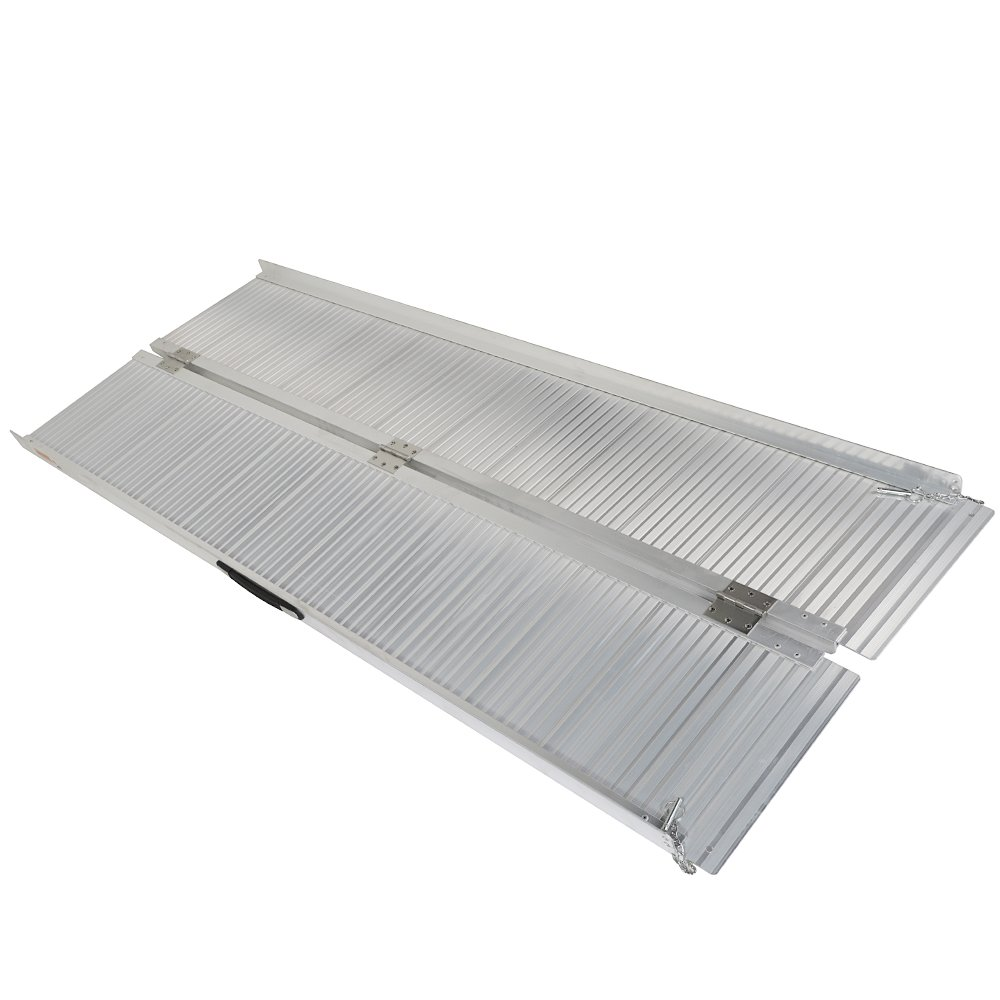 6' ft Protable Briefcase Wheelchair Scooter Ramp 72'' Aluminum Loading Ramps for Wheelchair Scooter Mobility