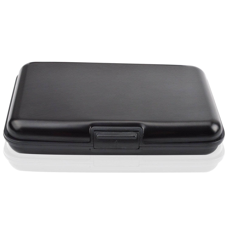 MaxGear RFIDブロックウォレット クレジットカードホルダー クレジットカード財布 本革ウォレット B07D2B5MJ8 Old-luggage-case-black Old-luggage-case-black