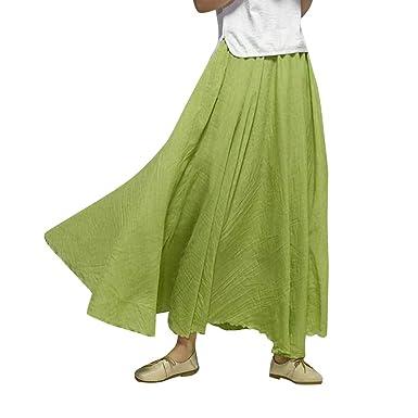 MISSMAOM Falda Larga Mujer Larga Casual Maxi Faldas Elegante y ...