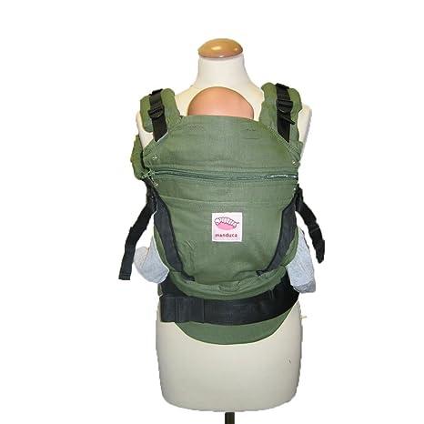Manduca BlueVelvet - Mochila portabebés con funda para los tirantes, color verde