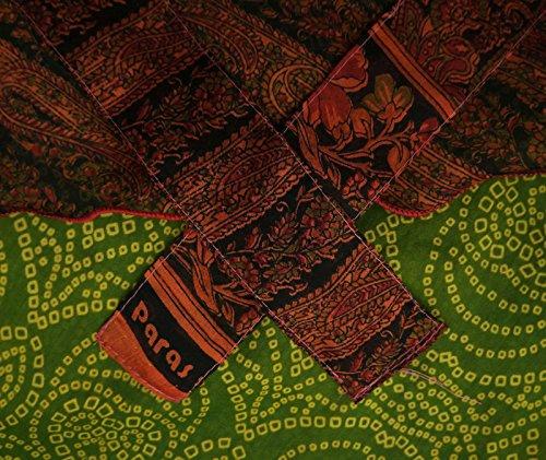Jardín Mujer Seda Del Verano Reversible Falda Larga Wrap Naranja y verde