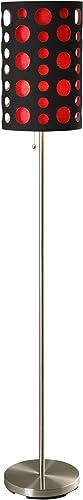 Ore International 9300F-BK-RD Modern Retro Floor Lamp