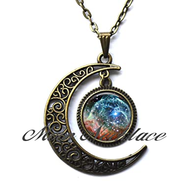 9d8f6065daa Image Unavailable. Image not available for. Color  Crescent Moon Necklace