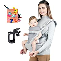 Four Seasons Baby Sling,Baby Carrier with Hip Seat, Front and Back Sling, with Hood, for Newborn and Toddler 0-36 Months…
