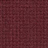 M+A Matting 385 Brush Hog Plus Nylon Fiber Entrance Outdoor Floor Mat with Drainable Fabric Border, SBR Rubber Backing, 5' Length x 3' Width, Burgundy Brush
