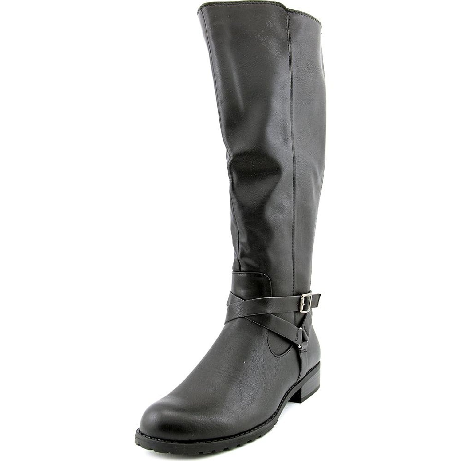 Style & Co.. Womens BRIGYTE Almond Toe Knee High Riding Boots, Black WC, Size 5.0