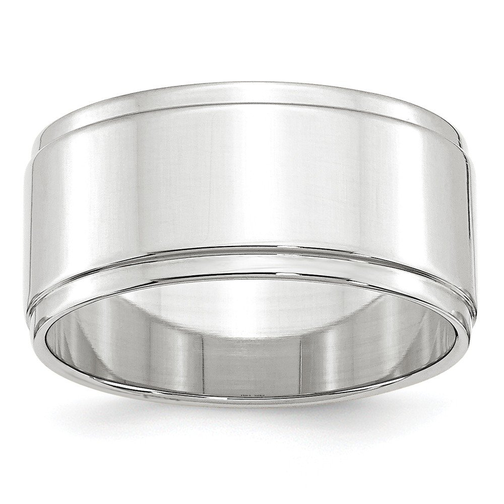 10KW 10mm Flat with Step Edge Band Size 11.5 by JewelrySuperMart Collection