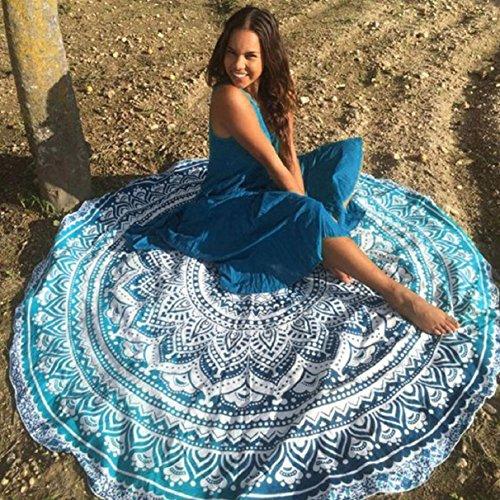 Lookatool Beach Cover Up Bikini Boho Summer Dress Swimwear Bathing Suit Kimono Tunic (Mint Green) (Blue Dress Ups)