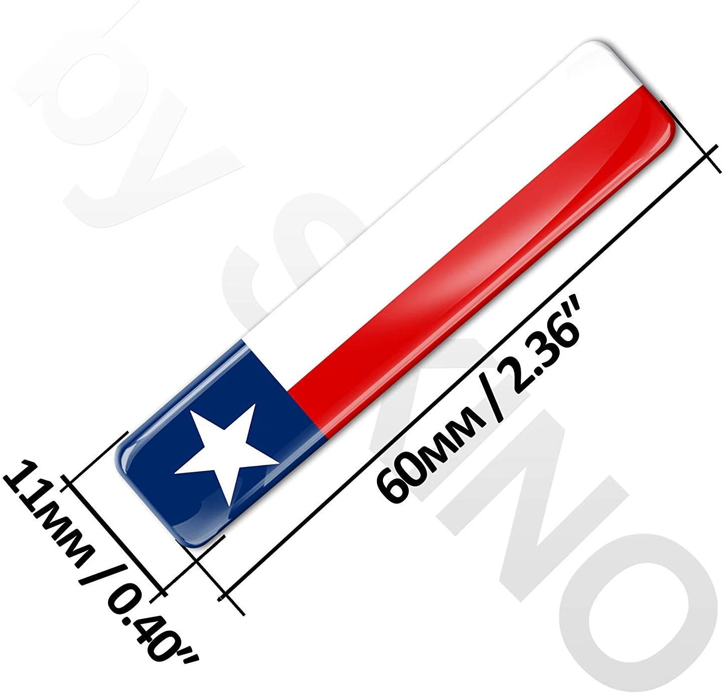 2 x 3D Domed Silicone Stickers Decals Texas USA National State Flag Star Car Motorcycle Helmet F 24