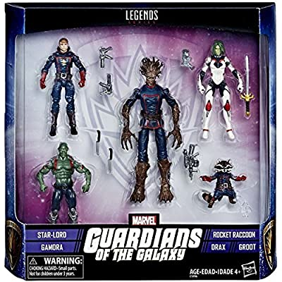 Marvel Legends Guardians of the Galaxy 3.75 Inch Action Figure Set: Toys & Games