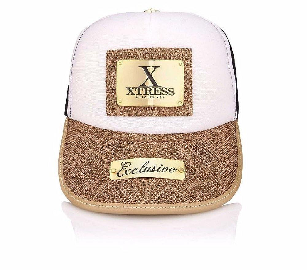 Xtress Exclusive Gorra blanca de diseño para hombre y mujer.: Amazon.es: Ropa y accesorios