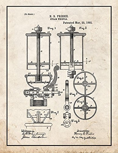 Frame a Patent Steam Whistle Patent Print Art Poster Old ...