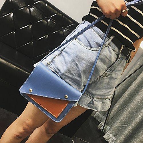 De Crossbody Couleur Bandoulière À Fille Téléphone Hit Cuir Décontracté Femmes Pu Bleu Épaule Cabina Mini Sac La Porté w1OqW