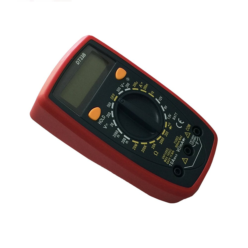 OLSUS DT33B LCD Handheld Digital Multimeter for Home and Car - Red by OLSUS (Image #3)