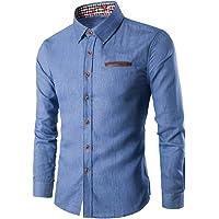 GOLDEN STITCH Men's Denim Slim Fit Causal Shirt