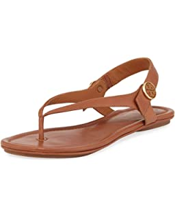 4fdeea53373a Tory Burch Women s Minnie Leather Flat Travel Sandal (Royal ...