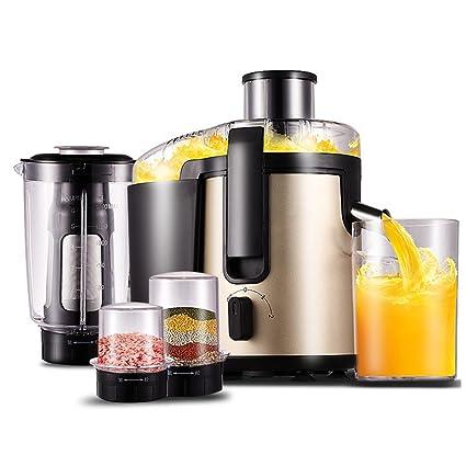 LJHA Exprimidor de jugo de exprimidor automático máquina de zumo de separación de champán de oro