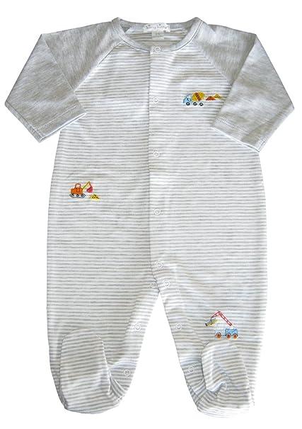 668973d3f9b Amazon.com  Kissy Kissy Baby-Boys Infant Work Zone Stripe Footie  Clothing
