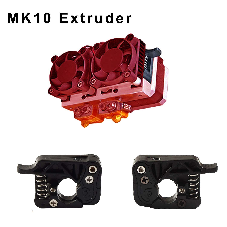 1.75mm Filament Aluminum, Right KR-NET Mk10 Extruder Drive Feeder Device J-Head for Makerbot Replicator 2 2X // CTC Bizer Dual Nozzle 3D Printer
