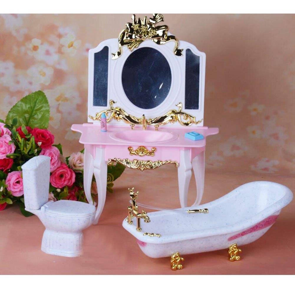 Black Black Black Temptation Luxuriöse 11.5 '' Puppe Wohnzimmermöbel Set-Bathroom 1d6cc0