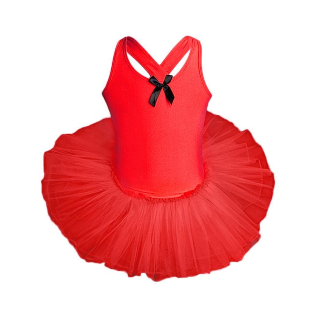 XILALU Toddler Girls Gauze Leotards Ballet Bodysuit Dancewear Dress Clothes Outfits