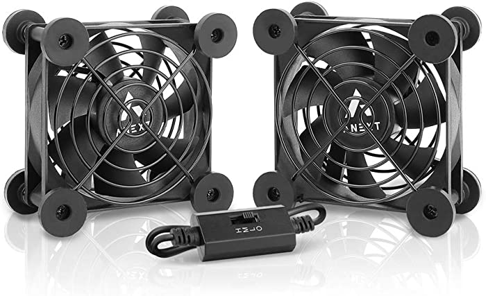 Antec Quiet Dual 80mm USB Fan, for Receiver DVR Playstation Xbox Computer Cabinet Cooling, ANEXT Series