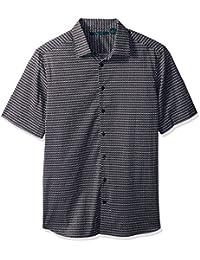 Perry Ellis Men's Big and Tall Micro Diamond Dot Shirt
