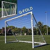 QuickPlay Q-Fold | The 30 Second Folding Soccer Goal for Backyard [Single Goal] (8x5')