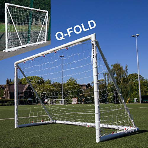 QuickPlay Q-Fold 8x5ft | The 30 Second Folding Soccer Goal for Backyard [Single Goal] The Best Weatherproof Soccer Net for Kids and Adults – 2YR Warranty for 2018 –