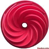 ランダムな色キッチン耐熱皿渦巻き形状シリコンケーキ金型のパンDIYクッキーデザートベーキングモールドペストリーツール
