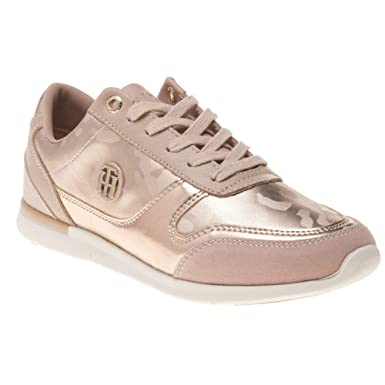 ffc3034aa Amazon.com  Tommy Hilfiger Camo Metallic Light Womens Sneakers Pink ...
