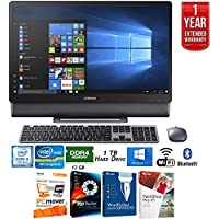 Samsung DP710A4M-L01US 23.8 Intel Core i5, 12GB RAM All-in-One TouchScreen Computer + Elite Suite 17 Standard Software Bundle (Corel WordPerfect, PC Mover, PDF Fusion, X9) + 1 Year Extended Warranty