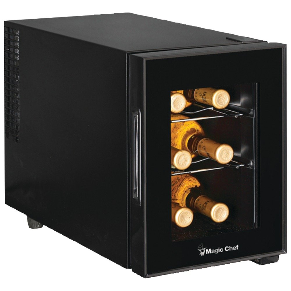 Black Magic Chef 6 Bottle Wine Cooler for Bars, Storing, Cooling, Wines, Drinks and More