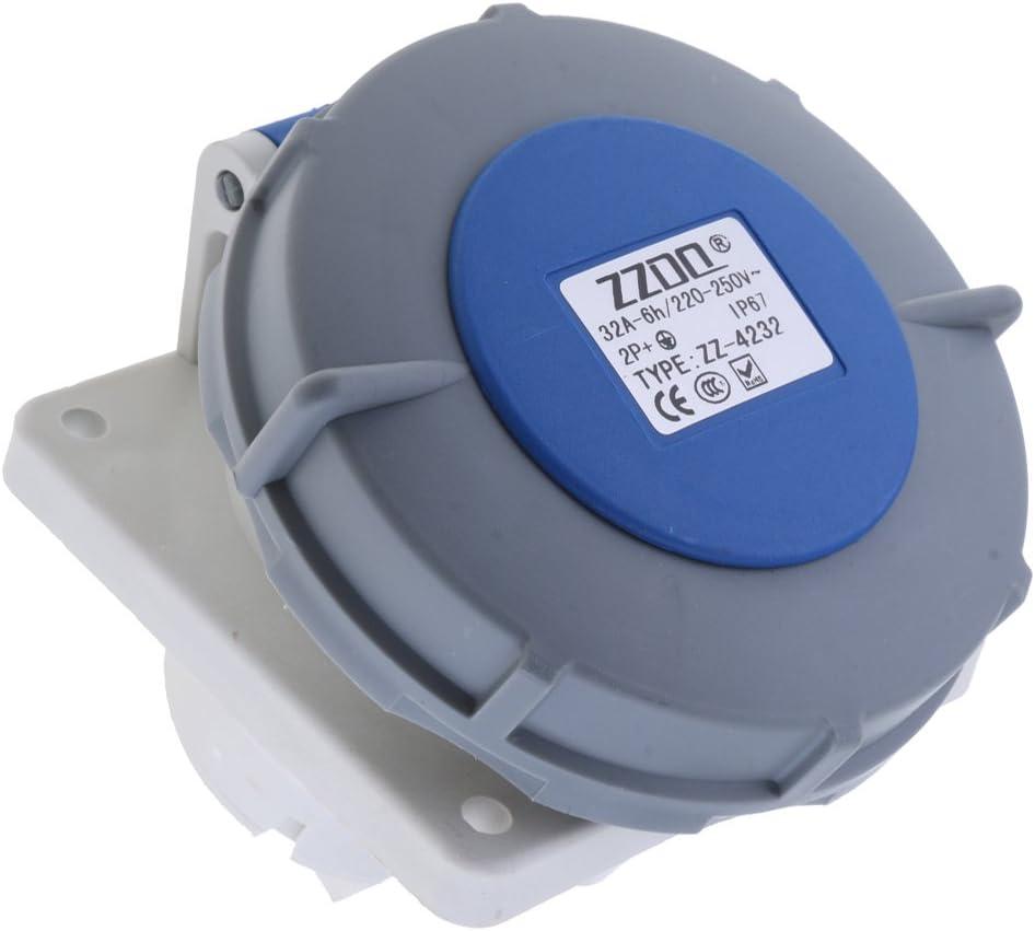 MagiDeal Ip67 Imperm/éable /à Leau R/ésistant Aux Intemp/éries Connecteur /électrique Splitter Coupleur 4232 bleu