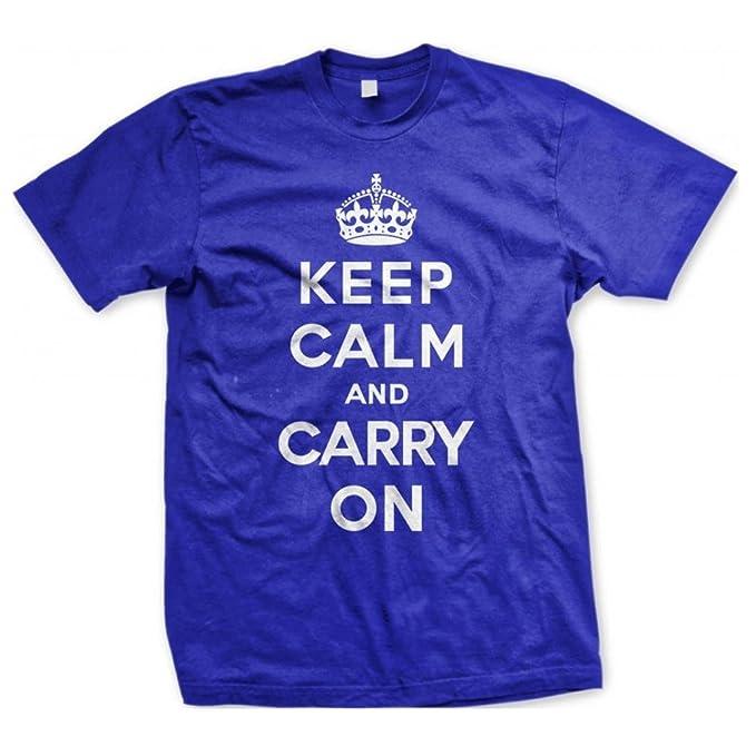 5cd1af1bcfc Keep Calm And Carry On - WW2 Propaganda Póster diseño - Los Hombres De  camiseta de algodón - grande, Royal: Amazon.es: Ropa y accesorios