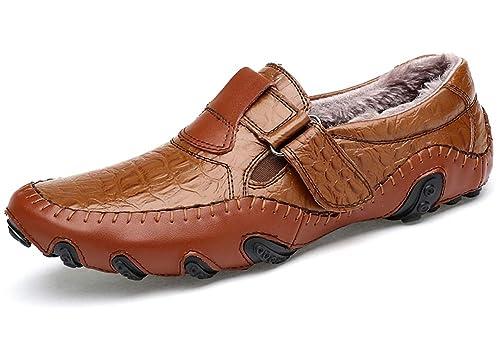 Aiaobao Mocasines de Hombre Cuero Mocasines Casual Conducción Barco Zapatos Cuadrado Realce Suave Resbalón En Mocasines: Amazon.es: Zapatos y complementos