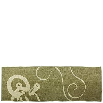 Laroom 12805 U2013 Teppich Küche Kaffeemaschine, Beige Und Grün
