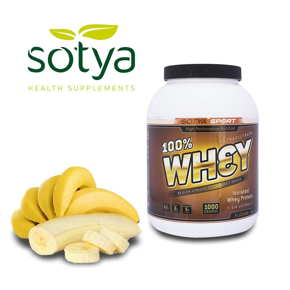 SOTYA Proteína Whey 100% Plátano con Yogurt 1 kg: Amazon.es: Salud y cuidado personal
