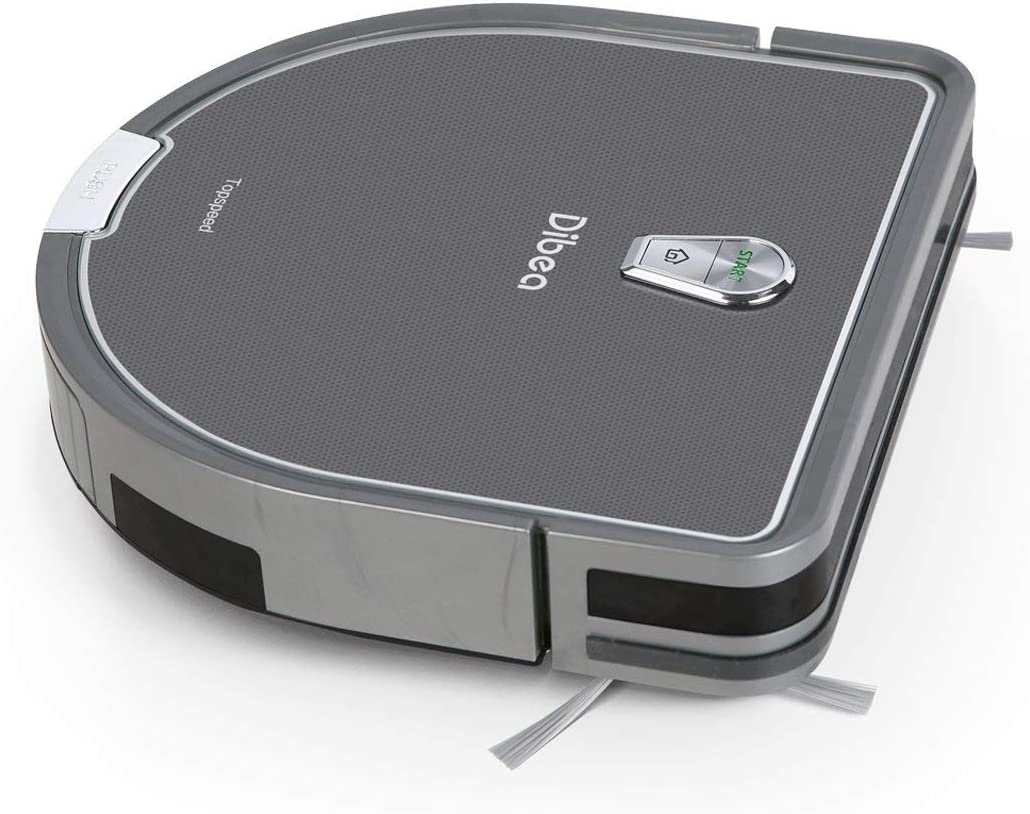 Dibea Upgraded Robotic Vacuum and Mop Cleaner, Strong Suction Self-Charging Robot Vacuum Cleaner for Pet Hair, Carpet & Hard Floor
